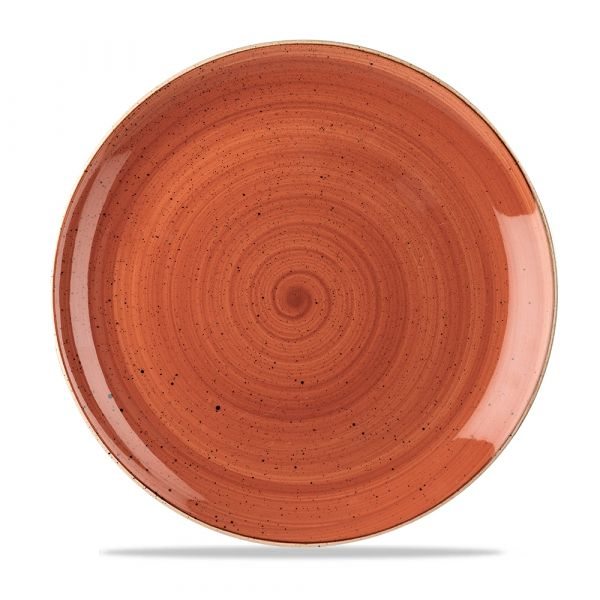 Teller flach coup 29cm STONECAST spiced orange
