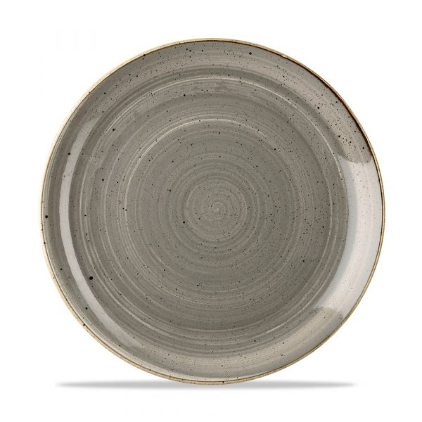 Teller flach coup 26cm STONECAST peppercorn grey