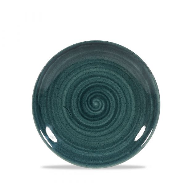 Teller flach coup 16,5cm STONECAST PATINA rustic teal