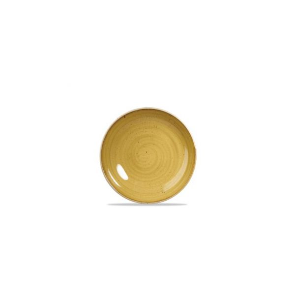 Teller flach coup 17cm STONECAST mustard seed yellow