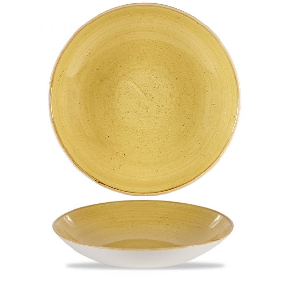 Schale coup 31cm STONECAST mustard seed yellow