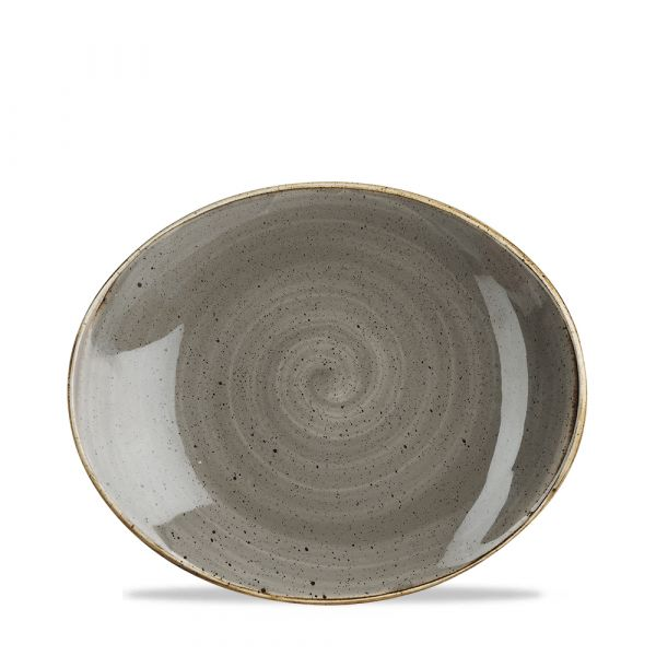 Platte oval coup 19cm STONECAST peppercorn grey