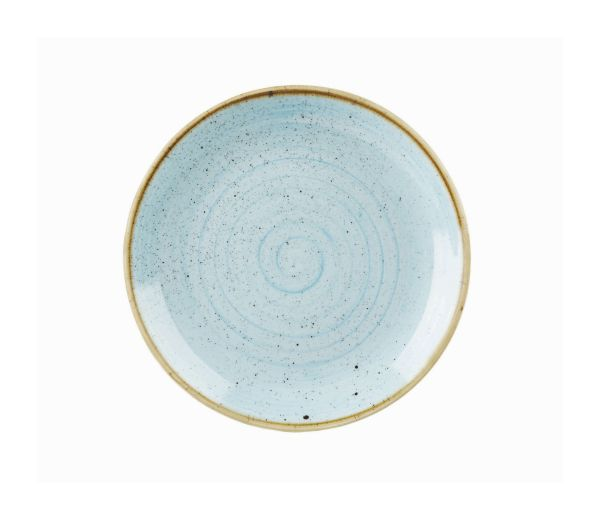 Teller flach coup 26cm STONECAST duck egg blue