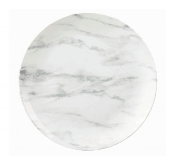 Teller flach coup 26cm TEXTURED PRINTS grey marble