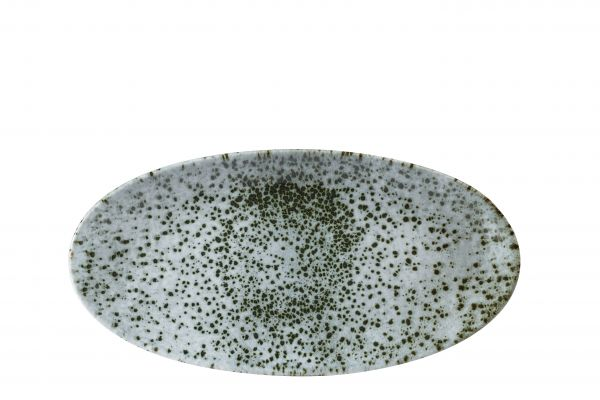 Platte oval Chefs Plate 35x17,5cm MINERAL green
