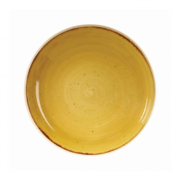 Schale coup 25cm STONECAST mustard seed yellow