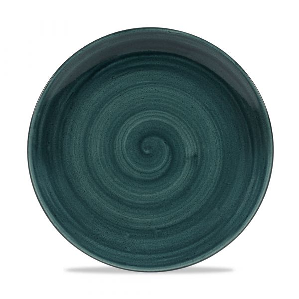 Teller flach coup 26cm STONECAST PATINA rustic teal
