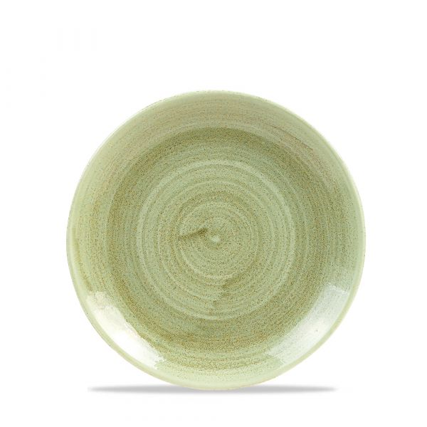 Teller flach coup 17cm STONECAST PATINA burnished green