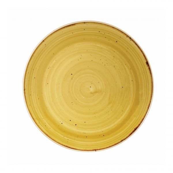 Teller flach coup 21,7cm STONECAST mustard seed yellow