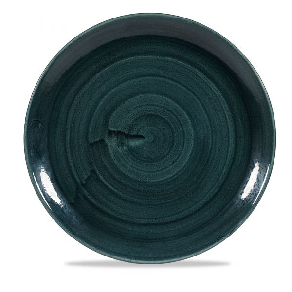 Teller flach coup 28,8cm STONECAST PATINA rustic teal