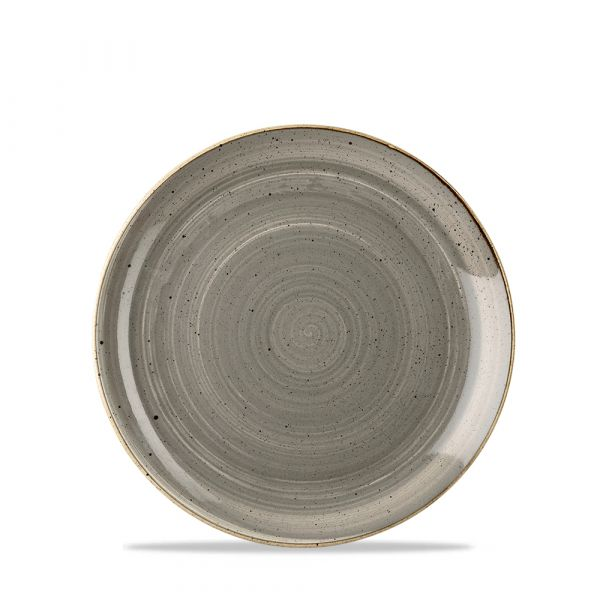 Teller flach coup 16,5cm STONECAST peppercorn grey