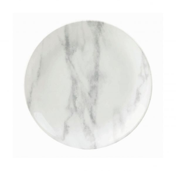 Teller flach coup 17cm TEXTURED PRINTS grey marble