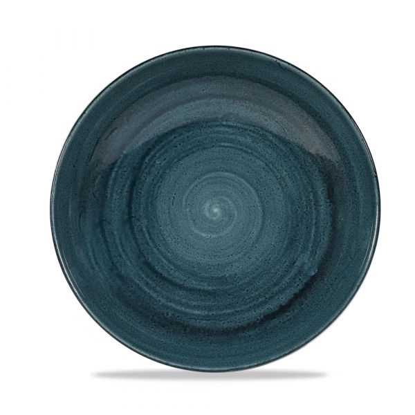 Teller tief coup 24,8cm 1136ml STONECAST PATINA rustic teal