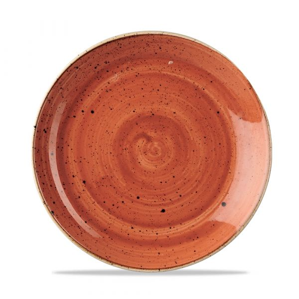 Teller flach coup 21,7cm STONECAST spiced orange