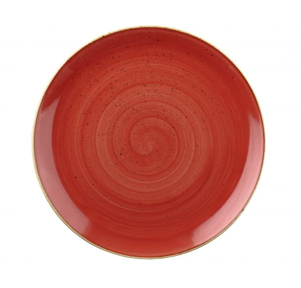 Teller flach coup 16,5cm STONECAST berry red