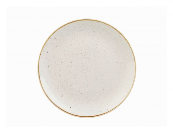 Teller flach coup 21,7cm STONECAST barley white