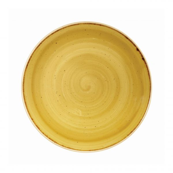 Teller flach coup 26cm STONECAST mustard seed yellow